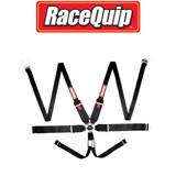 RaceQuip 746006 Auto Racing Harness Seat Belt Set; Pull-Down Lap; SFI 16.1 Black