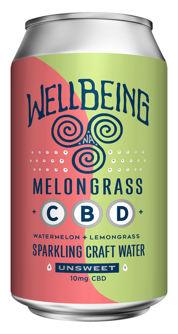 WellBeing MelonGrass CBD Sparkling Water (12-Pack)