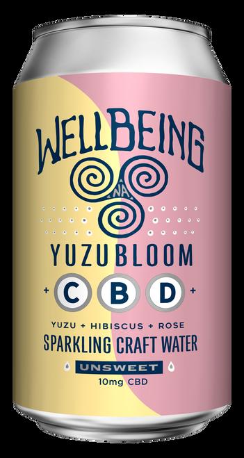 WellBeing YuzuBloom CBD Sparkling Water (12-Pack)