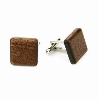 wooden cufflinks walnut, Manschettenknöpfe aus Holz