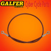 Galfer 36 inch Red rear extended brake line