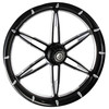 FTD Customs 6ix Shooter Black Contrast Harley Davidson Motorcycle Wheel