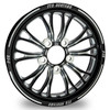 Drag Racing  Wheels - F15 Black contrast from FTD Customs