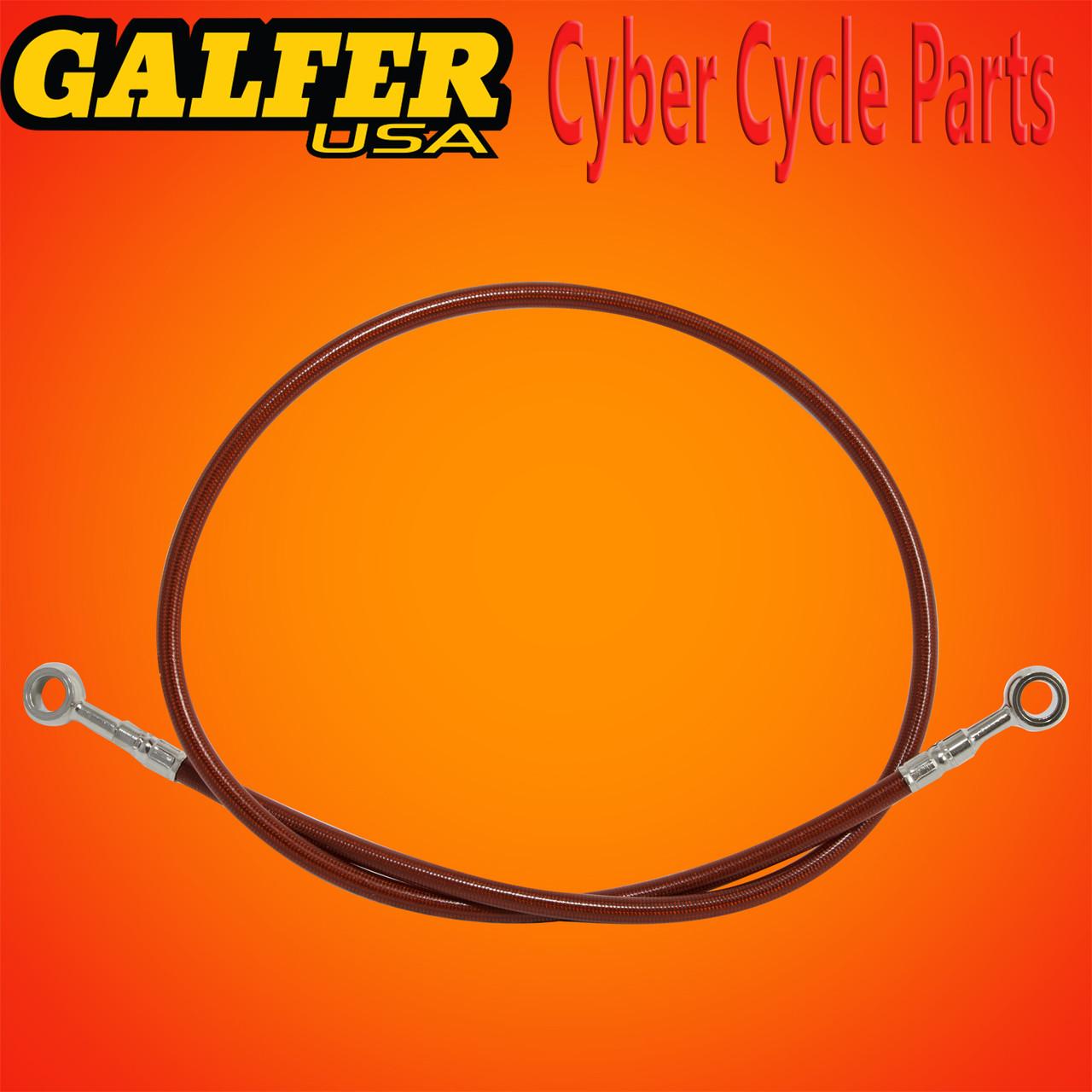 Galfer 36 inch Red rear extended brake line