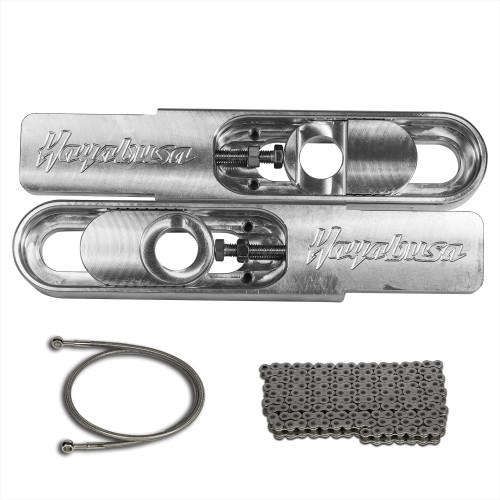 Hayabusa bolt on swingarm extensions