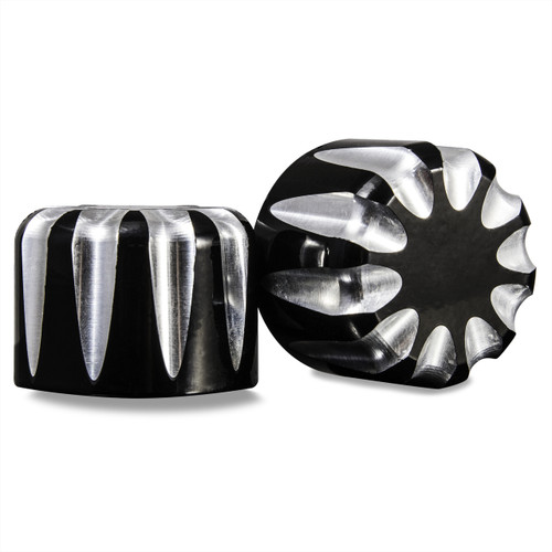 Harley Black Contrast Front Axle Covers