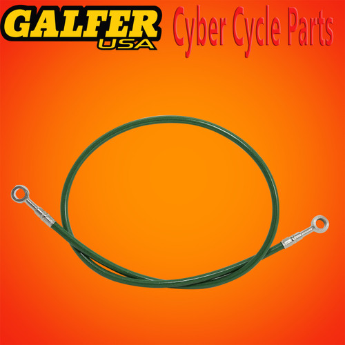 Galfer 36 inch Green rear extended brake line