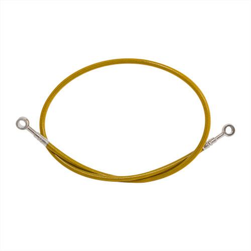 36 inch Gold rear extended brake line