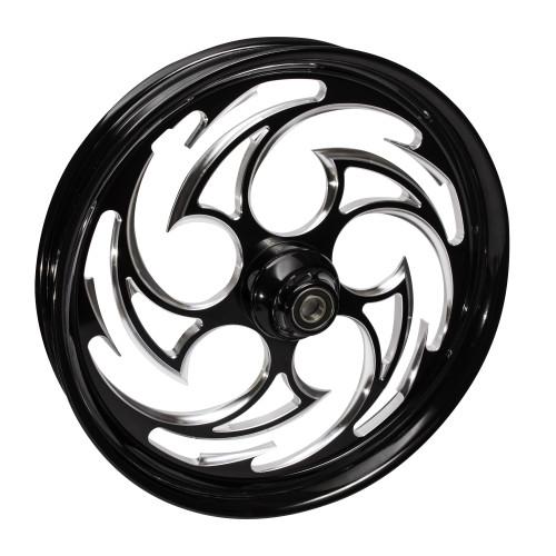 FTD Customs Predator Black Contrast Motorcycle Wheels