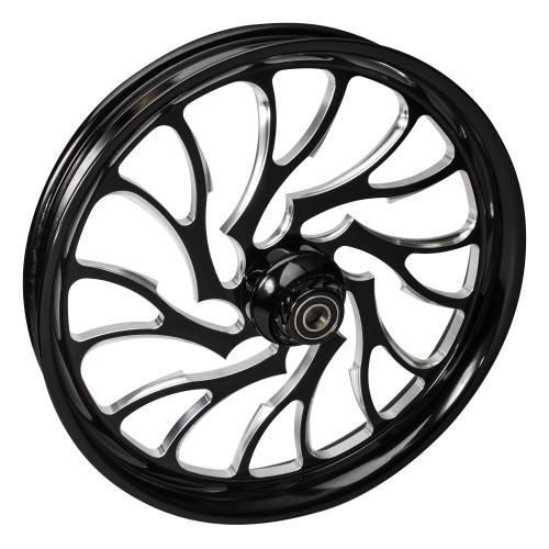FTD Customs 21 inch Nightmare Black Contrast Motorcycle Wheels