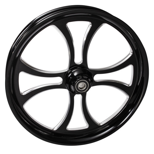 FTD Customs 21 inch Maltese Black Contrast Motorcycle Wheels