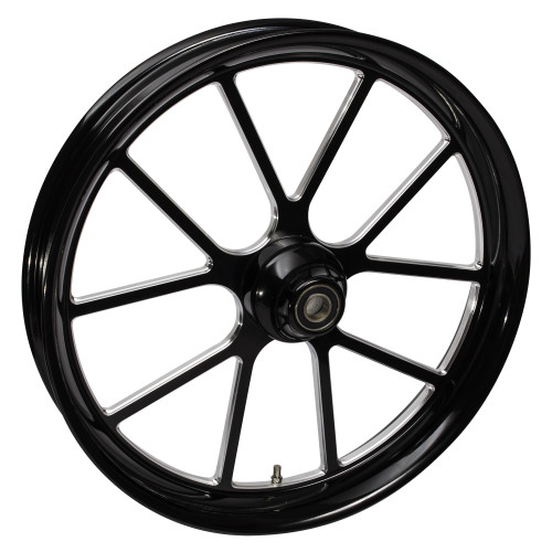 FTD Customs 21 inch Matrix Black Contrast Harley Davidson Motorcycle Wheel