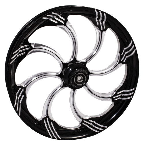 FTD Customs Slasher Black Contrast Cut Harley Davidson Motorcycle Wheel