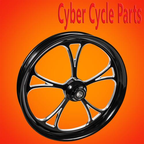FTD Customs 21 inch Cyclone  Black Contrast Cut Harley Davidson Motorcycle Wheel