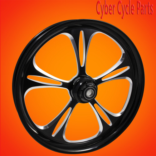 Harley Davidson 231inch Black contrast Cut wheel