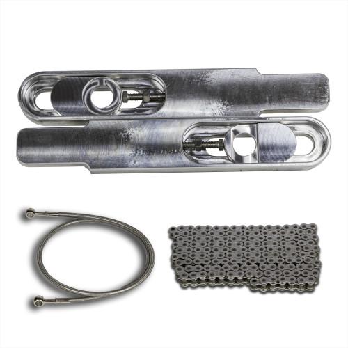 GSXR 1000 12 inch bolt on swing arm extensions, GSXR 1000 swingarm extensions