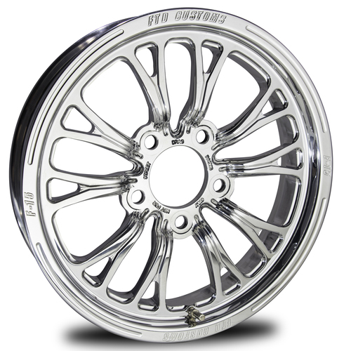 Drag Racing  Wheels - F15 Polished from FTD Customs
