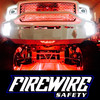 RED FIREWIRE LED MINI ROCK LIGHT KIT IN ACTION ON A TRUCK