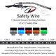 FIREWIRE LED 15 INCH SAFETY WIRE COLORS