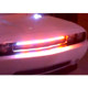 FIREWIRE LED 32 INCH AMBER/WHITE SAFETY WIRE USED IN THE GRILL OF A CAR