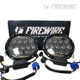 "7"" Round Bugeye Headlight Kit White DRL"