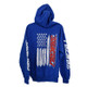 Firewire LEDs American Flag Hoodie Blue Back