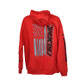 Firewire LEDs American Flag Hoodie Red Back