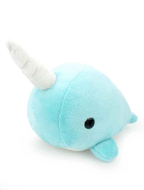 Bellzi® Cute Teal Narwhal Stuffed Animal Plush Toy - Narrzi