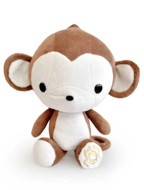 "Bellzi® Cute Monkey Stuffed Animal Plush - Monki - 12"" Tall"