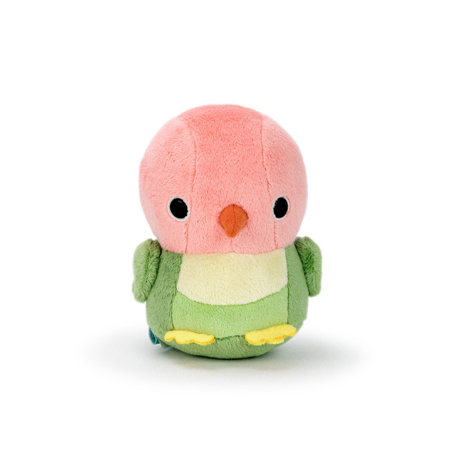 "Bellzi® Cute Orange and Green Love Bird Stuffed Animal Plush - Lovi - 4"" Height"