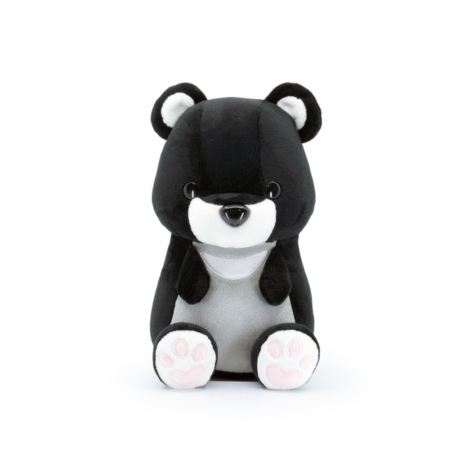 Bellzi® Cute Black Bear Stuffed Animal Plush - Moonbi