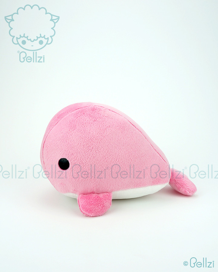 Bellzi® Cute Pink Whale Stuffed Animal Plush Toy - Whali