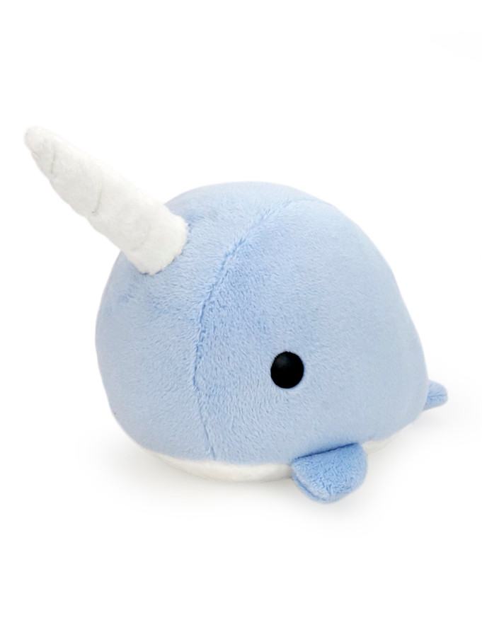 Narwhal Stuffed Animal Plush Toy - Dusty Blue