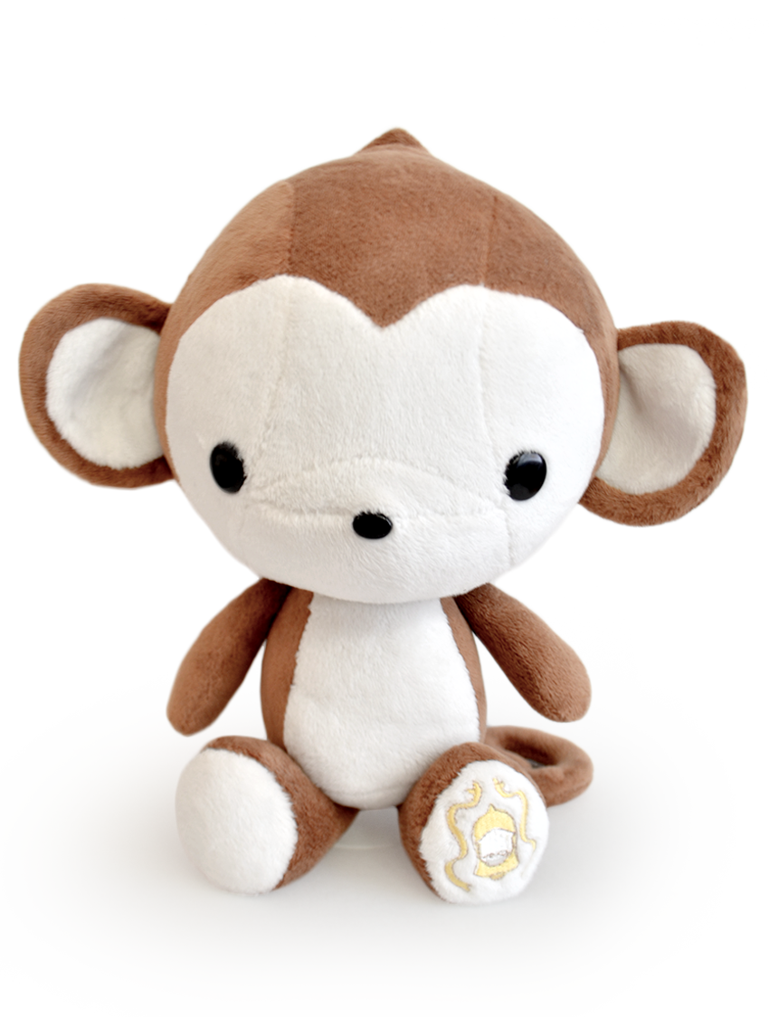 Bellzi Cute Monkey Stuffed Animal Plush Monki 12 Tall
