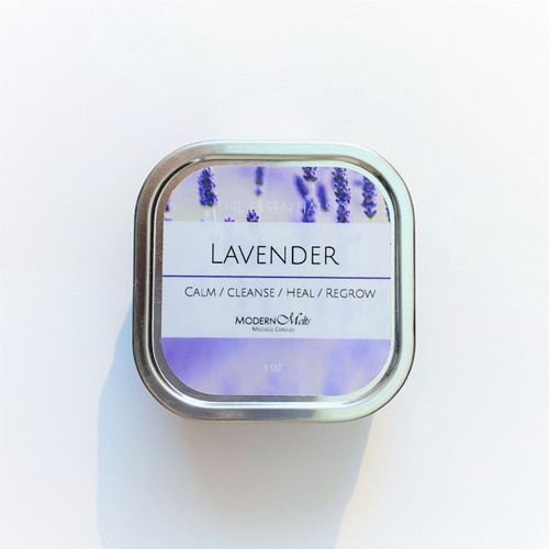 The flowers of lavender are fragrant in nature and have been used for its healing properties for centuries. Traditionally, lavender essential oil has also been used in making perfumes. The oil is very useful in aromatherapy and many aromatic preparations and combinations, such as lotions, candles and in this case, both!