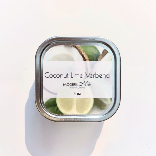 Coconut Lime Verbena Massage Candle (4oz)