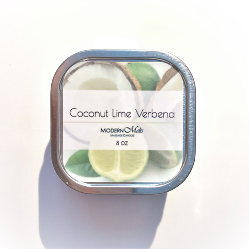 Coconut Lime Verbena Massage Candle (8oz)