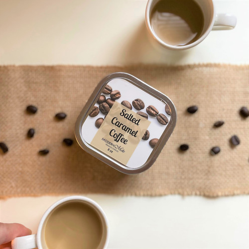 Salted Caramel Coffee Massage Candle (8oz)