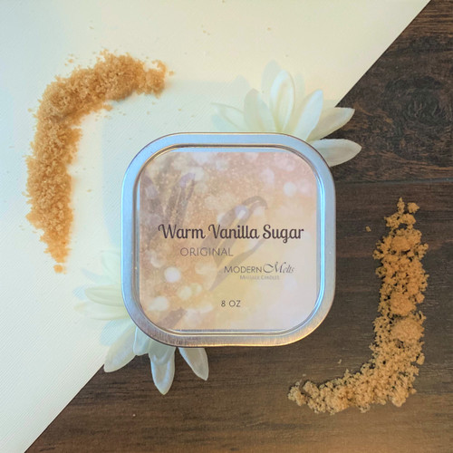 Warm Vanilla Sugar Massage Candle (8oz)