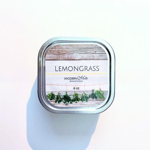 Lemongrass Essentials Massage Candle (8oz)