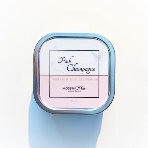 Pink Champagne Massage Candle (8oz)