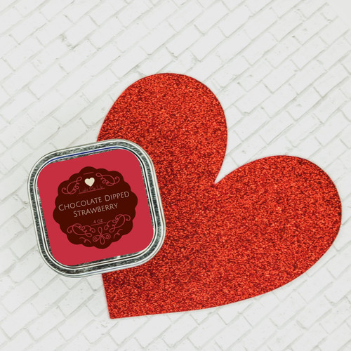 Chocolate Dipped Strawberry Massage Candle (4oz)