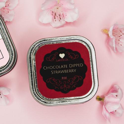 Chocolate Dipped Strawberry Massage Candle (8oz)