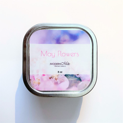 May Flowers Massage Candle (8oz)