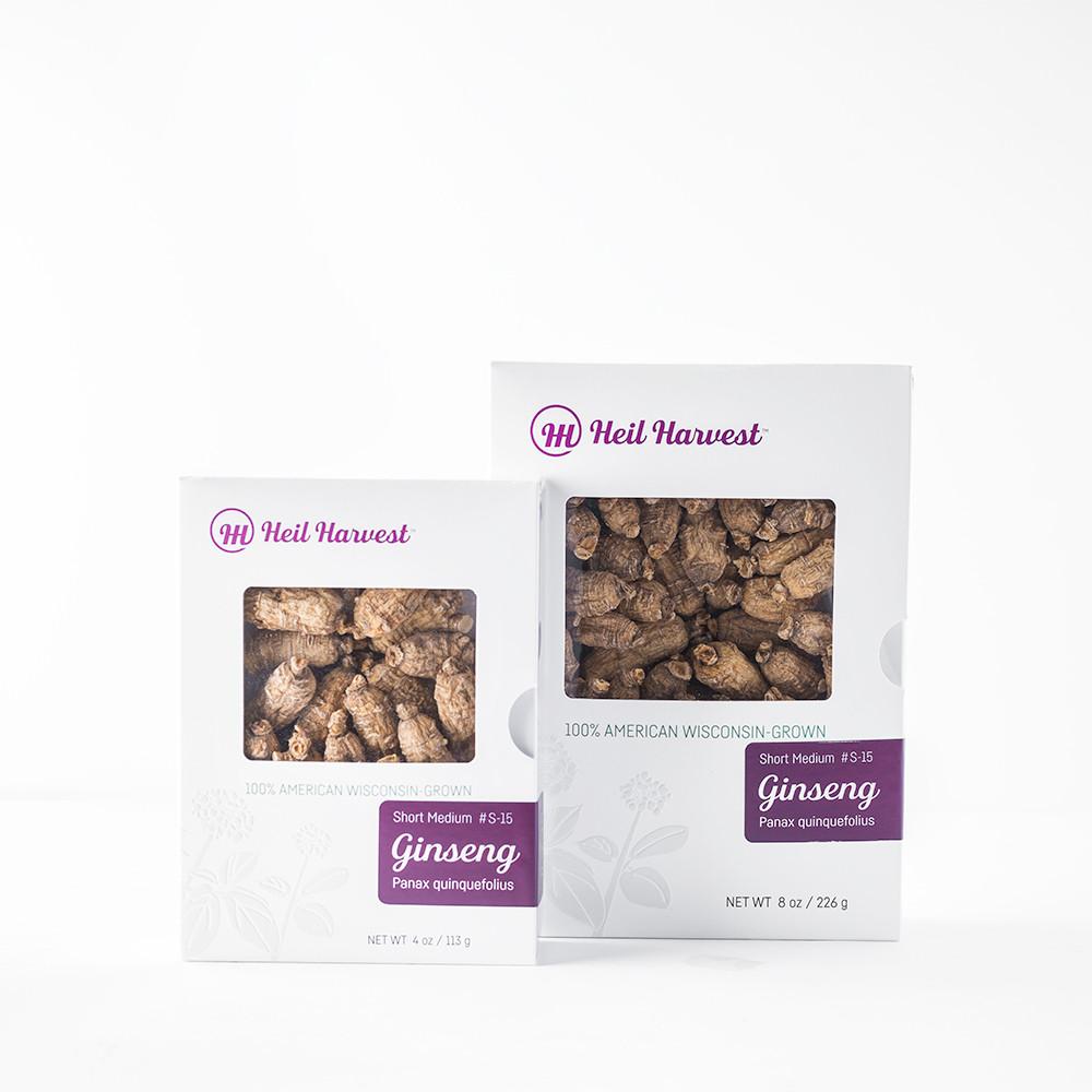 Premium Wisconsin Ginseng Gift Box Grades Short Medium #S-15