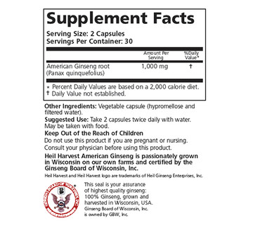 Wisconsin Ginseng Capsules