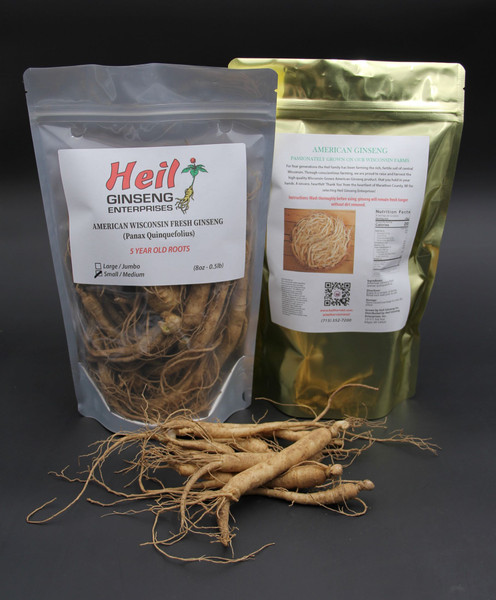 *Seasonal* SMALL-MEDIUM Fresh Ginseng (5 year old) - (8oz Bag)