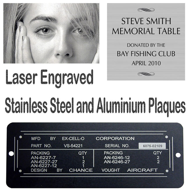 Aluminium and Stainless Steel Plaques