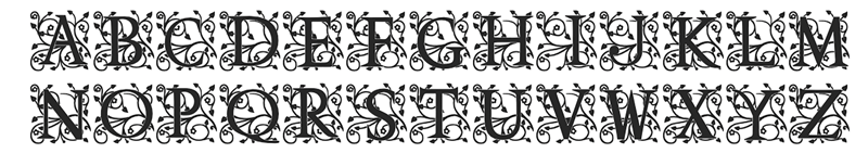 Single letter wax seal floral font