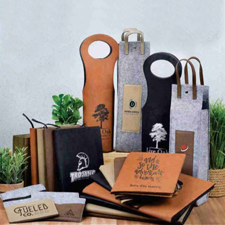 Saddle Collection custom engraved leather look gifts